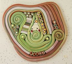 Kristie Foss Creations: Extruded Mokume Gane Tutorial ~ Plus! Polymer Clay Canes, Polymer Clay Necklace, Polymer Clay Projects, Polymer Clay Creations, Handmade Polymer Clay, Clay Crafts, Biscuit, Clay Extruder, Fondant