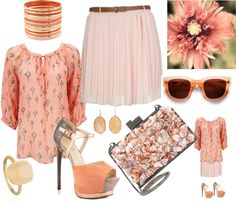 """""""Just peachy keen"""" by carolwatergirl on Polyvore"""