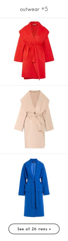 """outwear #5"" by antonellac15 ❤ liked on Polyvore featuring outerwear, coats, red, red cashmere coat, oversized coat, wool cashmere coat, bottega veneta coat, red coat, beige and short"