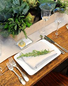 """Get fall centerpiece ideas using herbs, vegetables, potted plants, Mason jars, and wildflowers from Matthew Robbins on """"The Martha Stewart Show."""""""