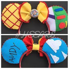 TOY STORY MOUSE EARS ✨ Now available in our shop! #disney #disneyland #disneyworld #mickeyears #mouseears #mickeymouse #customears #handmadeears #californiaadventure #fantasyland #frontierland #tomorrowland #custommouseears #handmademouseears #etsy #forsale #HEEARS