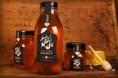 Identity and packaging created for J & J Honey.