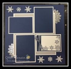 January Snowflake Scrapbook Page Christmas Scrapbook Layouts, Birthday Scrapbook, Wedding Scrapbook, Scrapbook Albums, Scrapbook Cards, School Scrapbook, Halloween Scrapbook, Scrapbook Layout Sketches, Scrapbook Templates