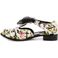 Iron Fist Women's Kill Me Later Oxford Flat - Blk (£37) ❤ liked on Polyvore featuring shoes, flat shoes, skull shoes, bow flat shoes, synthetic shoes and oxford shoes