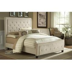 Tall, elegant and impactful, the Kaylie Bed (Buckwheat) is ready for royalty. With its statuous headboard and compact footboard, button and tuck styling, and inviting microfiber fabric, is a statement in luxury. Available in both queen and king sizes, as well as your choice of buckwheat, chocolate or pewter fabric.