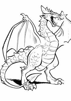 kleurplaat Efteling - De vliegende draak Adult Coloring Pages, Coloring Pages For Kids, Coloring Sheets, Coloring Books, Shrek Drawing, Dragon Ball, Mandala, Disney Printables, Fantasy Dragon