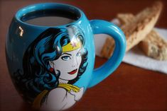 Wonder Woman 18 oz Coffee Mug - http://www.barnesandnoble.com/p/home-gift-oval-wonder-woman-mug/23751269