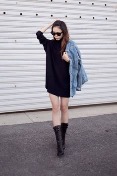 lace-up Givenchy boots - vintage jacket