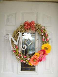 new spring wreath! diy!