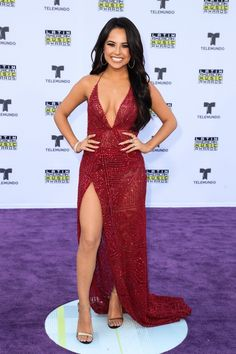 Becky G attends the Latin American Music Awards 2017 Girl Celebrities, Beautiful Celebrities, Gorgeous Women, Celebs, Becky G, Cute Valentines Day Outfits, Burgundy Outfit, Fashion Models, Fashion Outfits