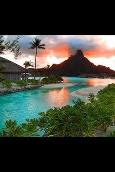 Bora Bora. Love to take my girlfriend to this place.