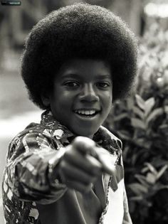 A young Michael Jackson - from the Jackson 5 days.