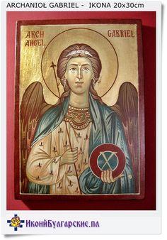 Archanioł Gabriel - Opiekuńczy Anioł ikona na prezent 20x30 cm (No 168)