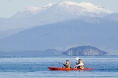 New Zealand - Taupo Kayaking on Lake Taupo 2