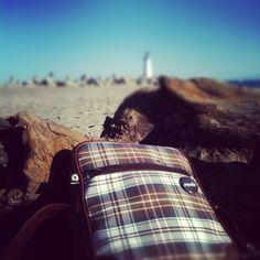 Our beloved handmade bag, Santa Cruz beach, CA