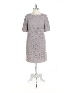 Plus-Size Crochet Dress from Adrianna Papel! #lordandtaylor
