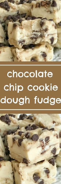 A sweet & creamy fudge that tastes exactly like chocolate chip cookie dough! No eggs so it's perfectly safe to eat. If you're looking for an extra sweet treat this Holiday and Christmas season then you have to try this chocolate chip cookie dough fudge #recipe!   Posted By: DebbieNet.com