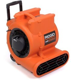 Air Mover 1625 CFM Ridgid Rear Wheels And Collapsible Handle Maximize Mobility Dust Filter, Pellet Stove, Janitorial Supplies, Electronic Recycling, Wet And Dry, Air Purifier, Vacuums, Handle, The Unit