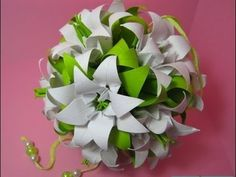 ▶ New Ideas for Gift or table decoration - Easy to do bouquet - Huge flower Kusudama - YouTube