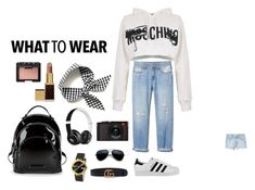 """""""#whattowear"""" by mitchteryosa on Polyvore featuring MANGO, Gucci, Moschino, Kendall + Kylie, Tom Ford, Beats by Dr. Dre, adidas and Leica"""