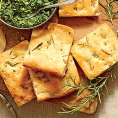 Rosemary Focaccia Bread - Best Party Appetizers and Recipes - Southern Living