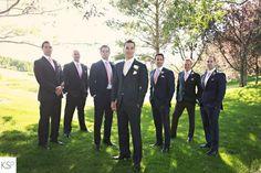 Kandice Stewart Photo: Heather & Charlie - Calgary Wedding Photographer. Kandice Stewart Photography. Wedding photography.  Bridal photography. Bridals. Wedding ceremony. Golf course wedding. Wedding party. Groomsmen.