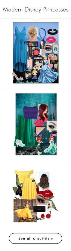 """Modern Disney Princesses"" by dawnfashion-16 ❤ liked on Polyvore featuring eShakti, ASOS, SOL Republic, Disney, 100% Pure, Laura Mercier, MAC Cosmetics, Clinique, Smashbox and Deborah Lippmann"