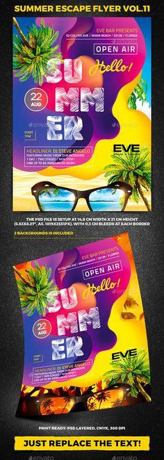Summer Escape Party Flyer vol.11