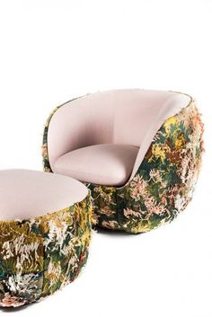 Luis Laplace armchair made of century Aubusson tapestry stitched upside down on the back and Pierre Frey textiles on top Pub Table And Chairs, Kitchen Tables, Home Furniture, Furniture Design, Compact Furniture, Furniture Stores, Pierre Frey, Upholstered Arm Chair, Diy Chair
