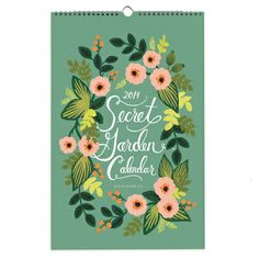 2014 Secret Garden Wall Calendar --Rifle Paper Co. The Secret Garden, Secret Gardens, Rifle Paper Company, Botanical Illustration, Paper Goods, Decoration, Hand Lettering, Pattern Design, Stationery