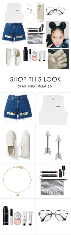 """""""Untitled #649"""" by qwert123456 ❤ liked on Polyvore featuring Off-White, Billabong, Gap, Banana Republic, Estella Bartlett and Bobbi Brown Cosmetics"""