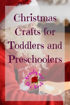 Fun Christmas Crafts to do with your preschooler and toddler Toddler Preschool, Toddler Crafts, Christmas Crafts For Toddlers, Just So You Know, Done With You, Crafts To Do, Holidays, Children, Blog