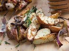 Grilled Chicken Kabobs with Jicama Slaw & Roasted Red Potatoes – The Oil Tree