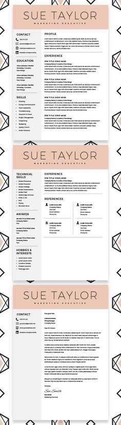 26 best resume template free images on Pinterest Resume, Resume