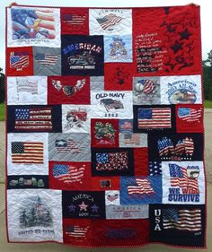 4th of July Tee shirt quilt