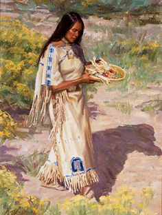 native american indians Mike Desatnick Maiden with Spices and Herbs kp. Detailed, landscape, authentic appearance and costume. Native American Face Paint, Native American Paintings, Native American Pictures, Native American Beauty, American Indian Art, Native American History, American Indians, Dream Catcher Art, Sioux