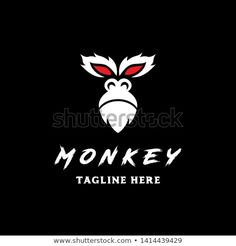 simple monkey face with red eye in black background logo icon vector template Red Eyes, Animal Logo, Royalty Free Photos, New Pictures, Black Backgrounds, Monkey, Logo Design, Template, Simple