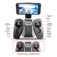 FQ777 FQ17W WIFI FPV Foldable Pocket Drone Black