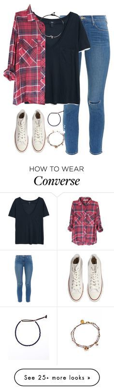 """""""all of me loves all of you❥"""" by kaley-ii on Polyvore featuring Frame Denim, MANGO, Converse, Blee Inara and Catherine Michiels"""