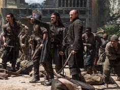 Allied and angry. Flint and Silver are ready for battle. #BlackSails - Season 4   Toby Stephens as Captain James Flint and Luke Arnold as Long John Silver   STARZ