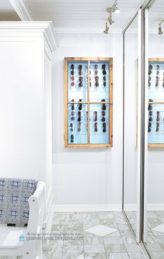 Our hallway / entrance hall and a homemade sunglasses cabinet! ;)) Design, styling and photography by Ann, Glassveranda.