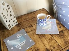 Cushions and coasters by 'Coasting the Cotswolds' - find me on Etsy and Folksy.