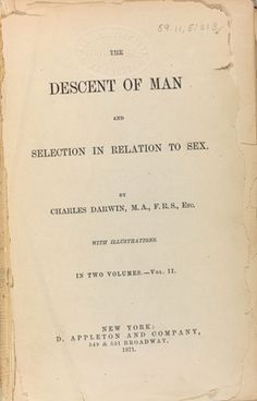 "The Descent of Man, published a dozen years after the Origin, tackles what Darwin knew would be the most controversial aspect of evolution by natural selection: humans, too? Darwin's response to what he called ""the highest and most interesting problem for a naturalist"" was clear. ""Man,"" he writes, ""with all his noble qualities...still bears in his bodily frame the indelible stamp of his lowly origin."" That is, we share an ancestry with the other primates."