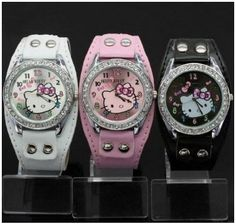 Hello Kitty Watch Pink ,White or Black' is going up for auction at  4pm Tue, May 6 with a starting bid of $1.