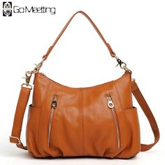 48.00$  Buy here - http://aikw7.worlditems.win/all/product.php?id=32674844310 - Go Meetting Brand Genuine Leather Women Shoulder Bag High Quality Cow Leather Women's Crossbody Bags Fashion Messenger Bags WD6