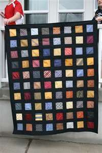 Silk tie quilt - this one is just sexy and so masculine! Could also be done with pocket squares!