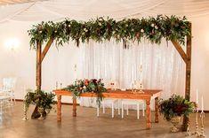 WEDDING | Theo & Tia  FLOWERS | Bridal Table arch, Tulips, cymbidium, roses PHOTO | Leze Hurter Photography