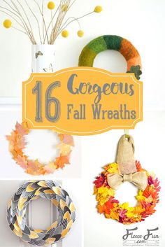 I love this collection of DIY fall wreath ideas. These autumn decor pieces are the perfect way of bring the fall color into your home. Fall Wreath Tutorial, Diy Fall Wreath, Fall Diy, Fall Wreaths, Wreath Ideas, Easter Wreaths, Burlap Wreath, Fall Projects, Craft Projects