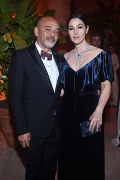 Christian Louboutin and Monica Bellucci