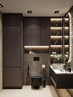 Bathroom Niche, Laundry Room Bathroom, Bathroom Tile Designs, Bathroom Design Luxury, Modern Bathroom Design, Modern Bathrooms Interior, Dressing Room Design, Toilet Design, Interior Exterior